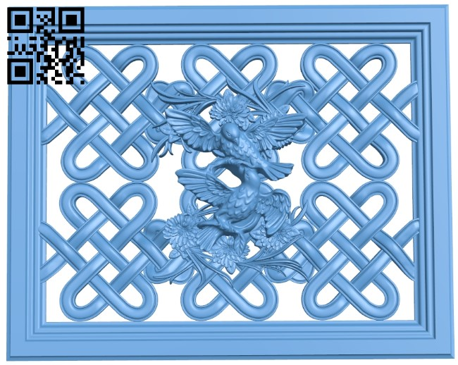 Door pattern A006094 download free stl files 3d model for CNC wood carving
