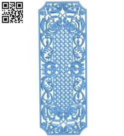 Door pattern A006095 download free stl files 3d model for CNC wood carving