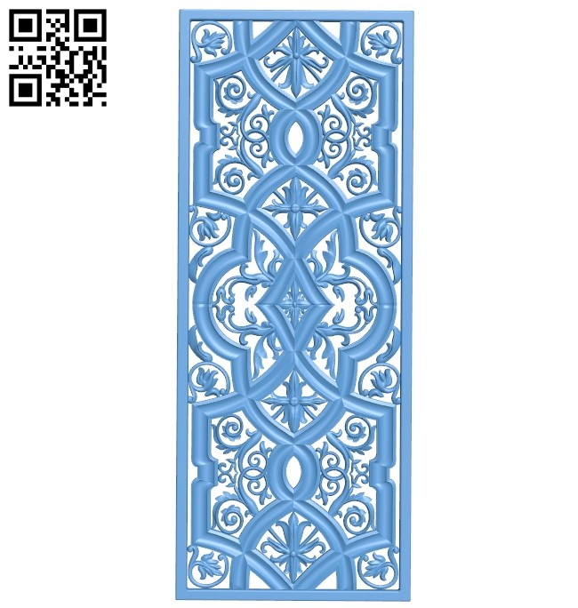 Door pattern A006096 download free stl files 3d model for CNC wood carving