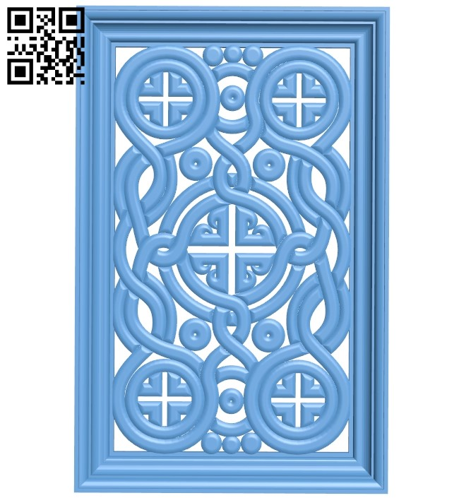 Door pattern A006097 download free stl files 3d model for CNC wood carving