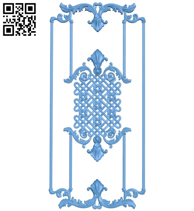 Door pattern A006098 download free stl files 3d model for CNC wood carving