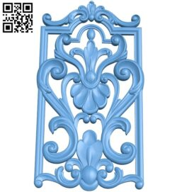 Door pattern A006099 download free stl files 3d model for CNC wood carving