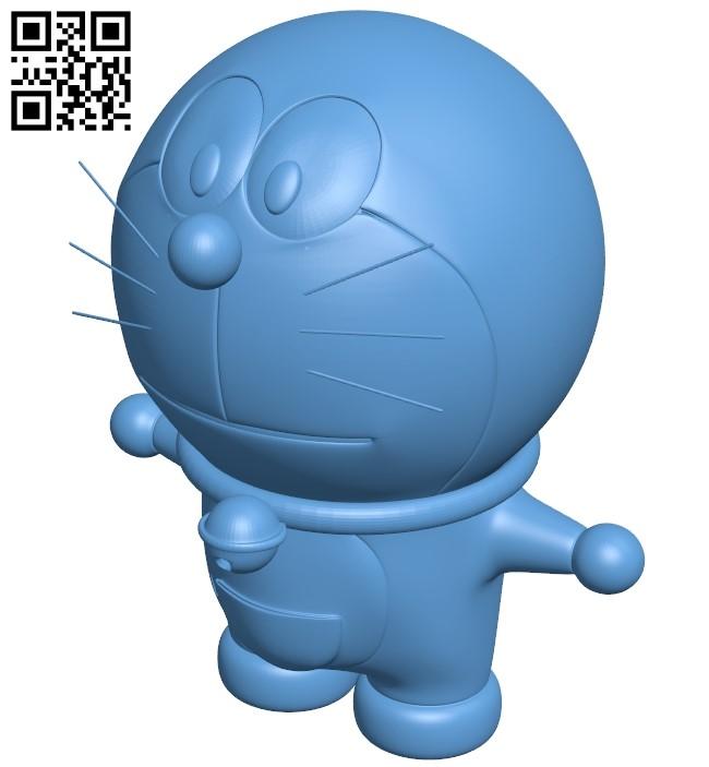 Doremon B009152 file obj free download 3D Model for CNC and 3d printer