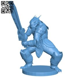 Dragonborn sword scan B009057 file obj free download 3D Model for CNC and 3d printer