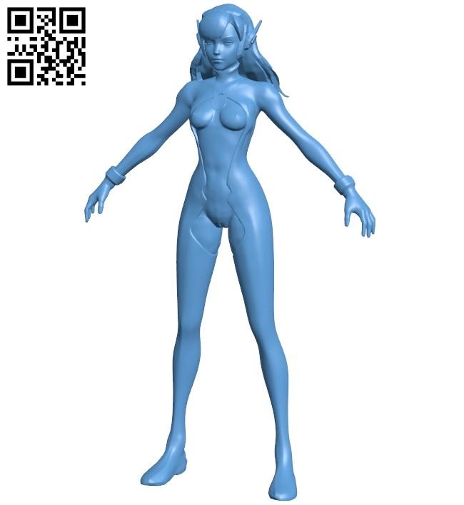 Dva Semi women B009053 file obj free download 3D Model for CNC and 3d printer
