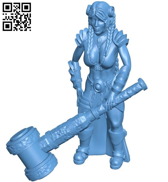 Dwarf Blacksmith BHG B009093 file obj free download 3D Model for CNC and 3d printer