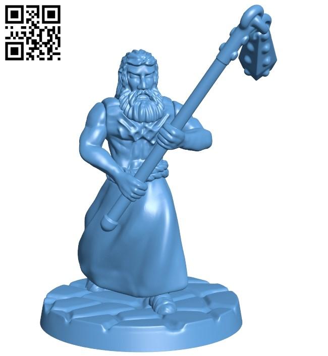 Flagellant - man B009197 file obj free download 3D Model for CNC and 3d printer
