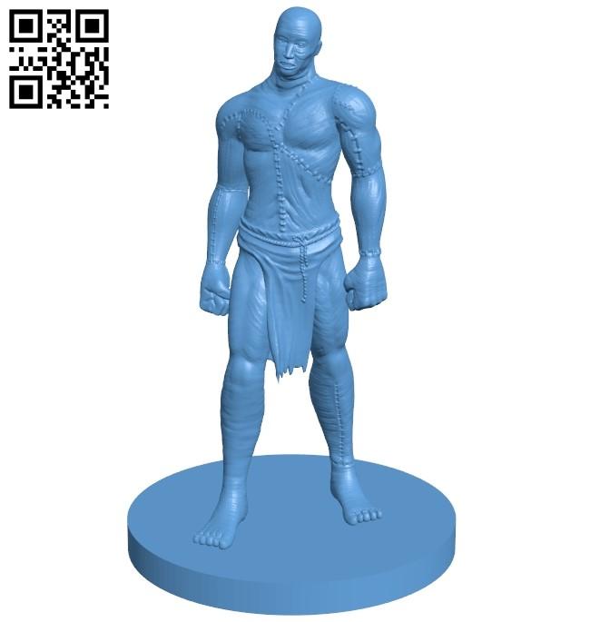 Flesh Golem - man B009052 file obj free download 3D Model for CNC and 3d printer