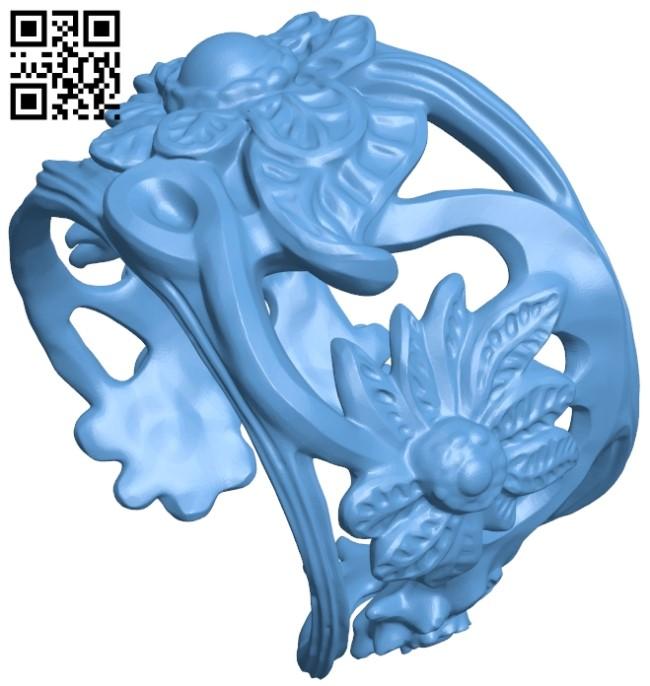 Floral bracelet B009050 file obj free download 3D Model for CNC and 3d printer
