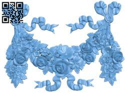 Flower pattern design A006133 download free stl files 3d model for CNC wood carving