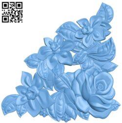Flower pattern design A006135 download free stl files 3d model for CNC wood carving