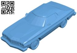 Ford gran torino – car B009044 file obj free download 3D Model for CNC and 3d printer