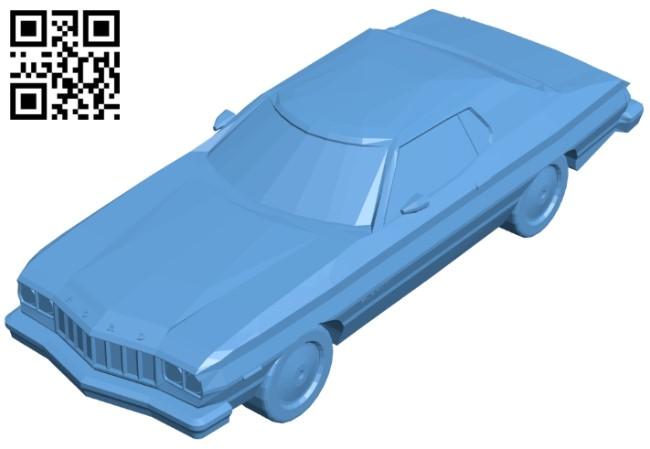 Ford gran torino - car B009044 file obj free download 3D Model for CNC and 3d printer