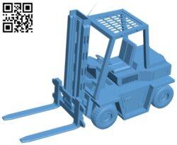 Forklift – truck B009113 file obj free download 3D Model for CNC and 3d printer