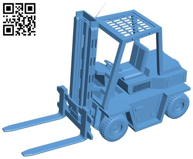 Forklift - truck B009113 file obj free download 3D Model for CNC and 3d printer