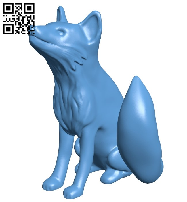 Fox B009157 file obj free download 3D Model for CNC and 3d printer