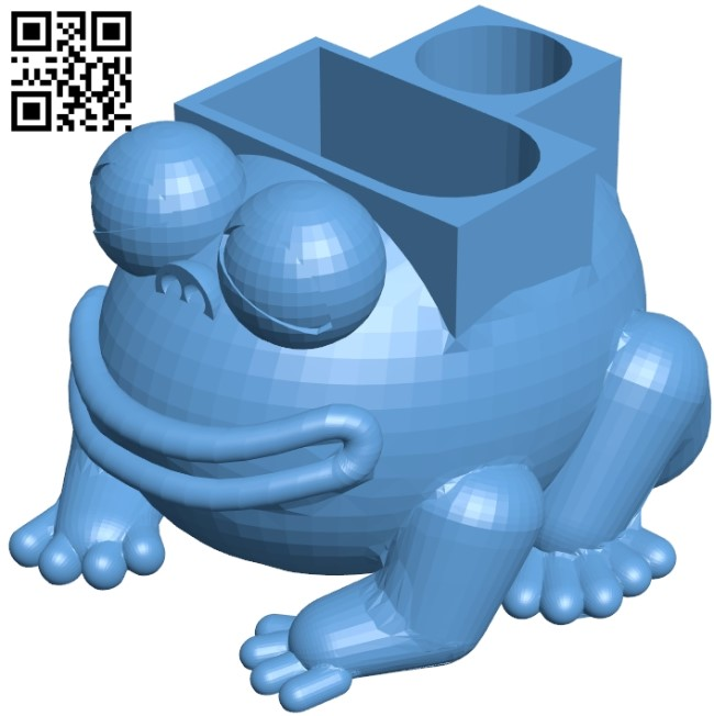 Frog B009077 file obj free download 3D Model for CNC and 3d printer