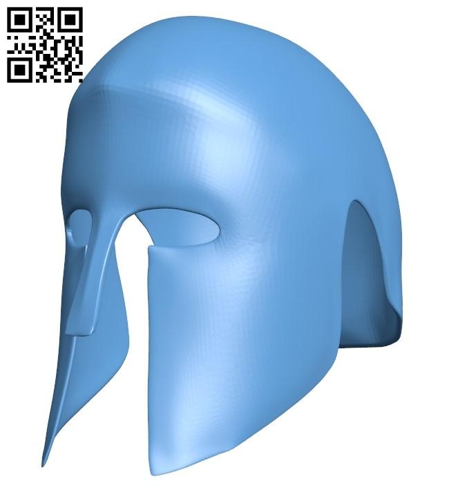 Greek helmet B009182 file obj free download 3D Model for CNC and 3d printer