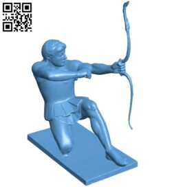 Heracles seated B009078 file obj free download 3D Model for CNC and 3d printer