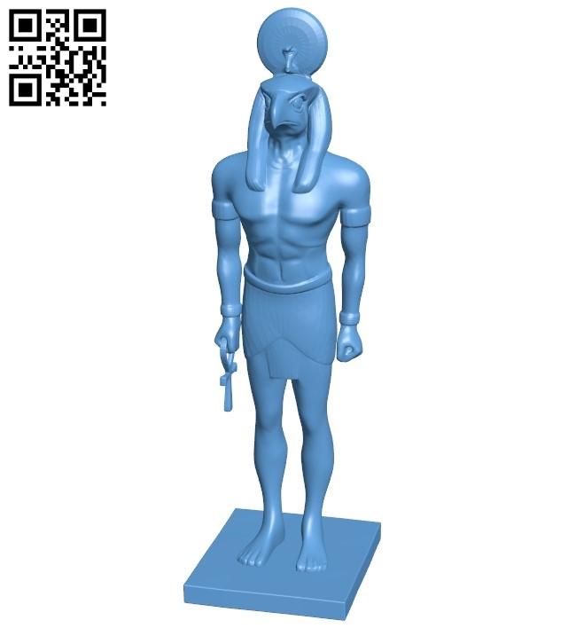 Horus B009112 file obj free download 3D Model for CNC and 3d printer