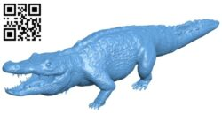 Huge crocodile B009051 file obj free download 3D Model for CNC and 3d printer