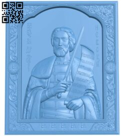 Icon Alexander Nevsky A006074 download free stl files 3d model for CNC wood carving