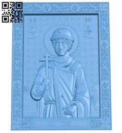Icon Gleb Vladimirovich – Prince of Murom A006152 download free stl files 3d model for CNC wood carving