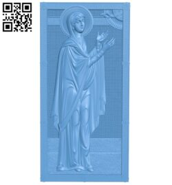 Icon Saint Anna A005990 download free stl files 3d model for CNC wood carving