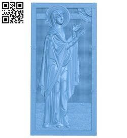 Icon Saint Anna A005999 download free stl files 3d model for CNC wood carving
