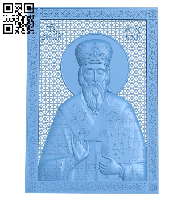 Icon Saint Basil A005993 download free stl files 3d model for CNC wood carving
