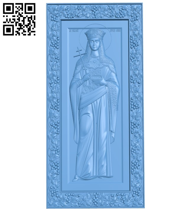 Icon Saint Helena A005996 download free stl files 3d model for CNC wood carving