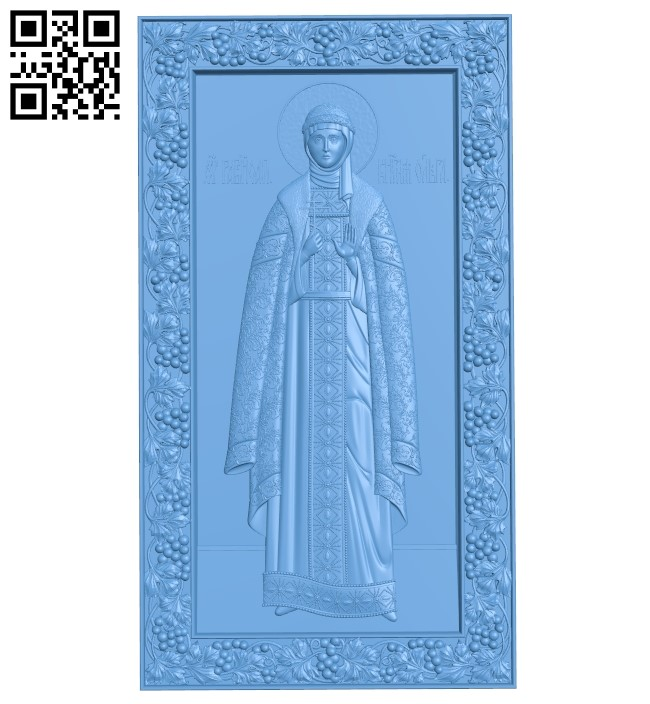 Icon Saint Olga A006073 download free stl files 3d model for CNC wood carving