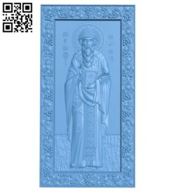 Icon Saint Spyridon A005995 download free stl files 3d model for CNC wood carving
