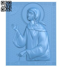 Icon Saint Xenia of Petersburg A006150 download free stl files 3d model for CNC wood carving