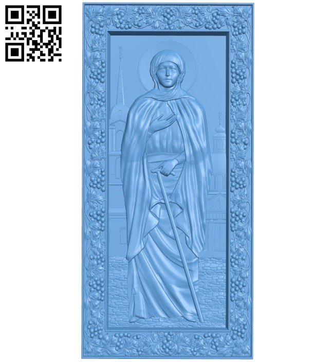 Icon Xenia of St. Petersburg A006071 download free stl files 3d model for CNC wood carving