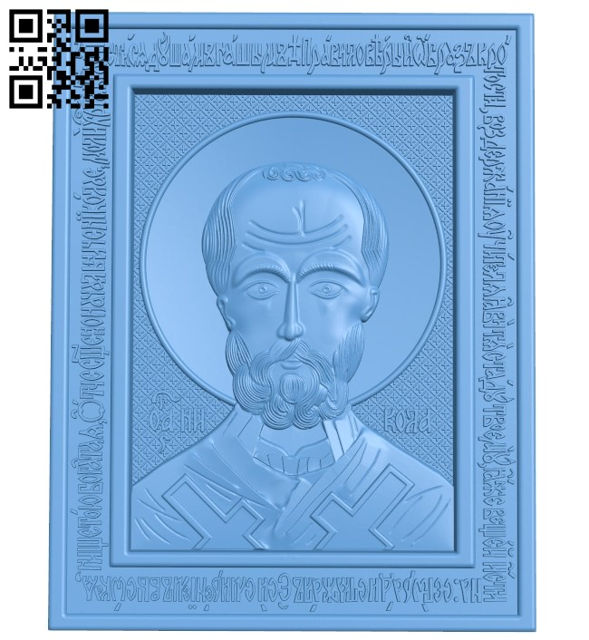 Icon of Nicholas A006156 download free stl files 3d model for CNC wood carving