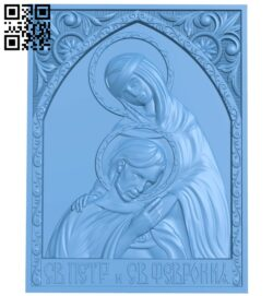 Icon of Peter and Fevronia A006070 download free stl files 3d model for CNC wood carving
