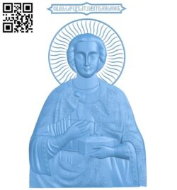 Icon of Saint Panteleimon A005991 download free stl files 3d model for CNC wood carving