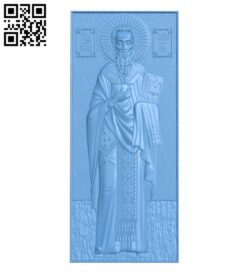 Icon of Saint Simeon A006154 download free stl files 3d model for CNC wood carving