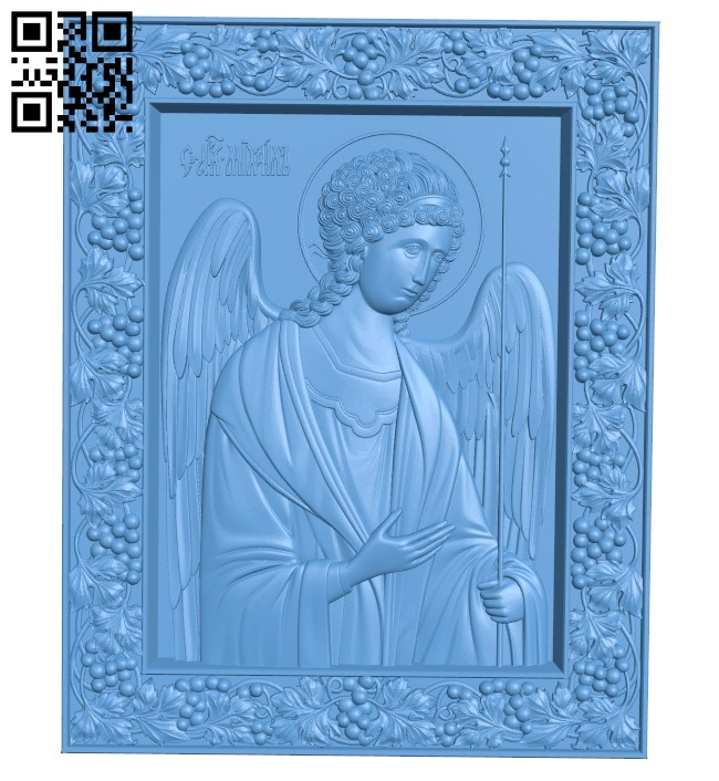 Icon of the Archangel Michael A006079 download free stl files 3d model for CNC wood carving
