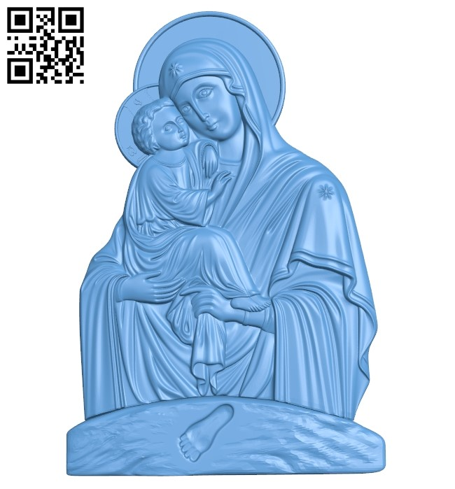 Icon of the Mother of God A005992 download free stl files 3d model for CNC wood carving