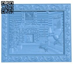 Inside the bungalow A006022 download free stl files 3d model for CNC wood carving