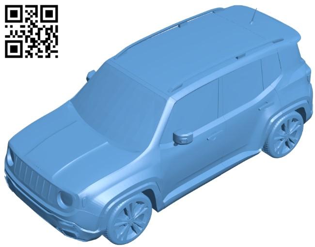 Jeep renegade - car B009063 file obj free download 3D Model for CNC and 3d printer