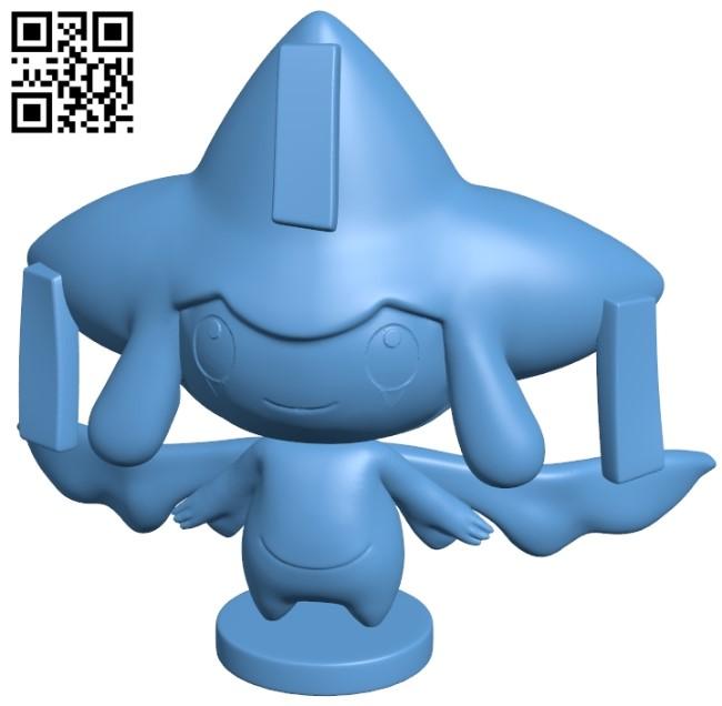 Jirachi - Pokemon B009118 file obj free download 3D Model for CNC and 3d printer