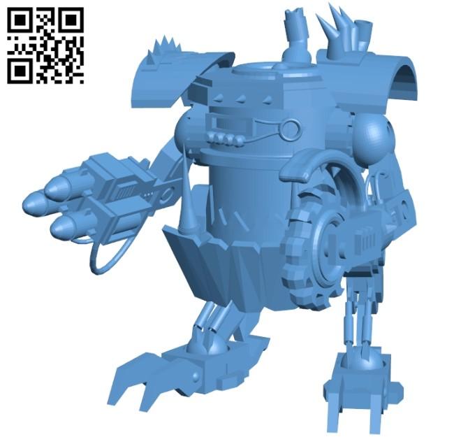 Killacan robot B009136 file obj free download 3D Model for CNC and 3d printer