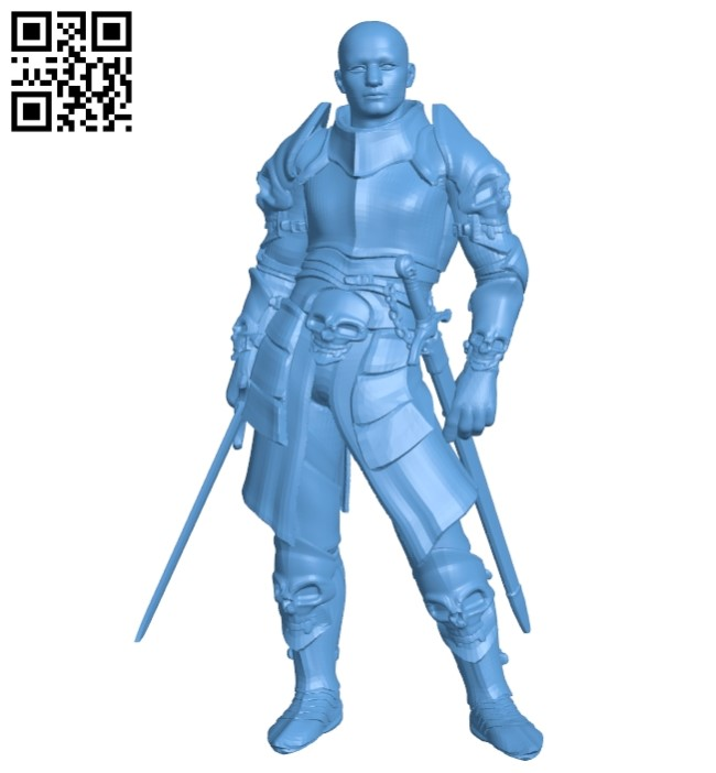 Knight in armor B009141 file obj free download 3D Model for CNC and 3d printer