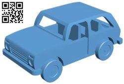 Lada niva – car B009172 file obj free download 3D Model for CNC and 3d printer