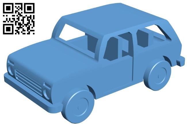 Lada niva - car B009172 file obj free download 3D Model for CNC and 3d printer