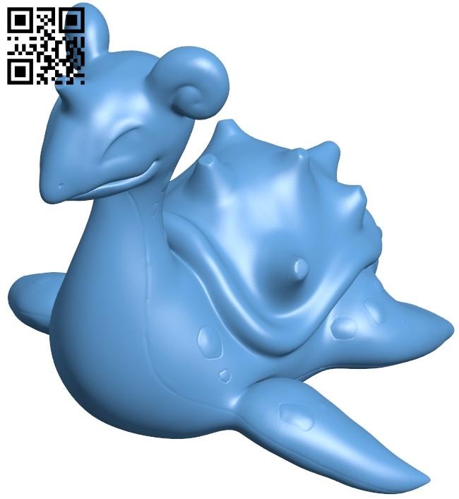 Lapras - pokemom B009196 file obj free download 3D Model for CNC and 3d printer