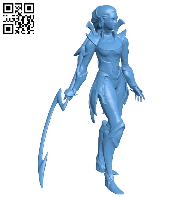 League of legends diana - girl B009211 file obj free download 3D Model for CNC and 3d printer
